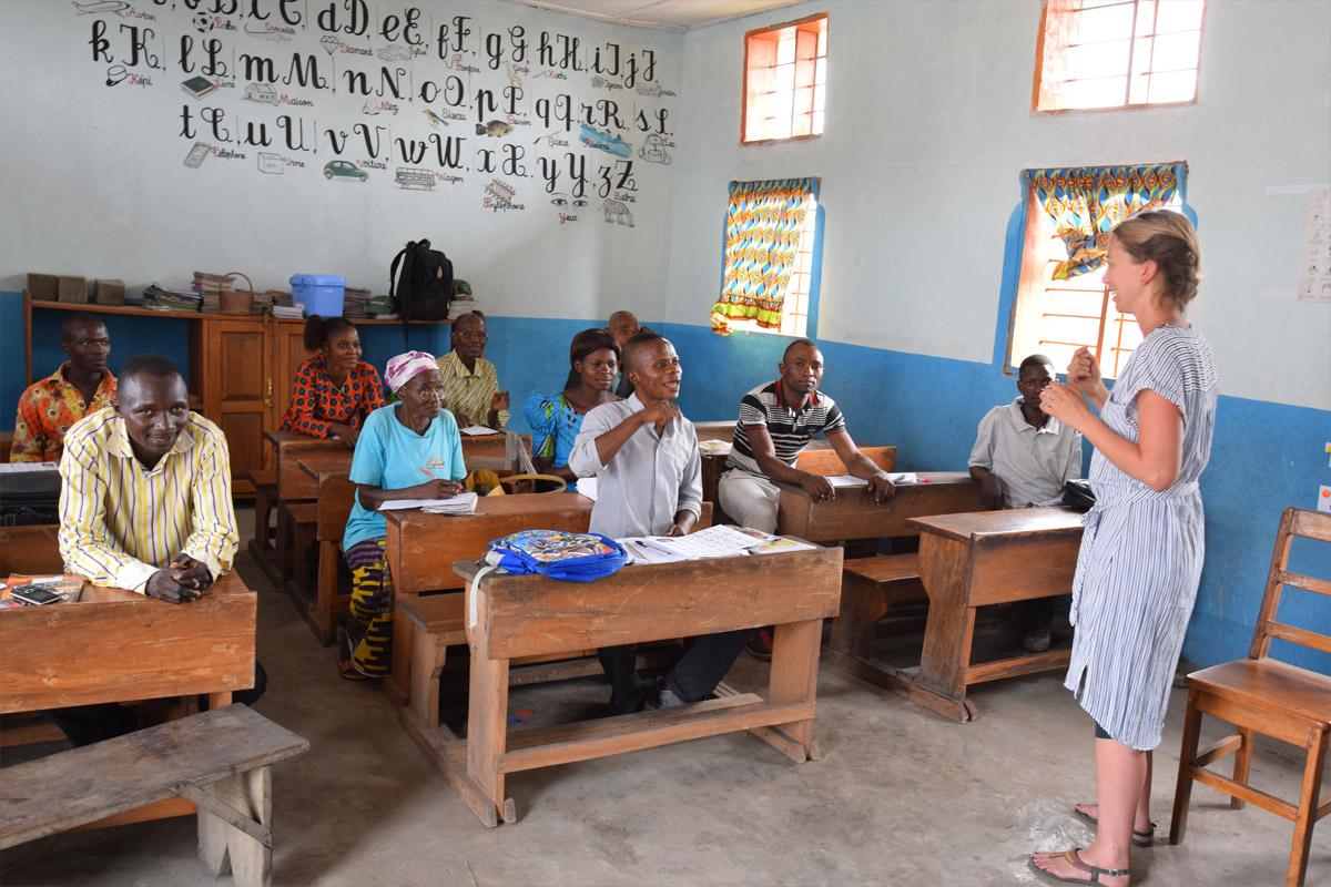 Magdalena Trixl bei der Lehrerfortbildung